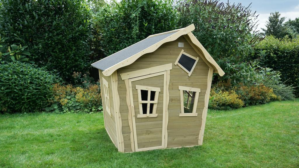 EXIT Crooky 100 houten speelhuis - grijsbeige