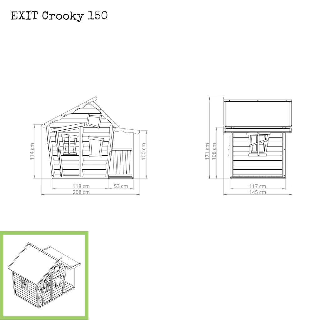 EXIT Cabane en bois Crooky 150 - beige gris