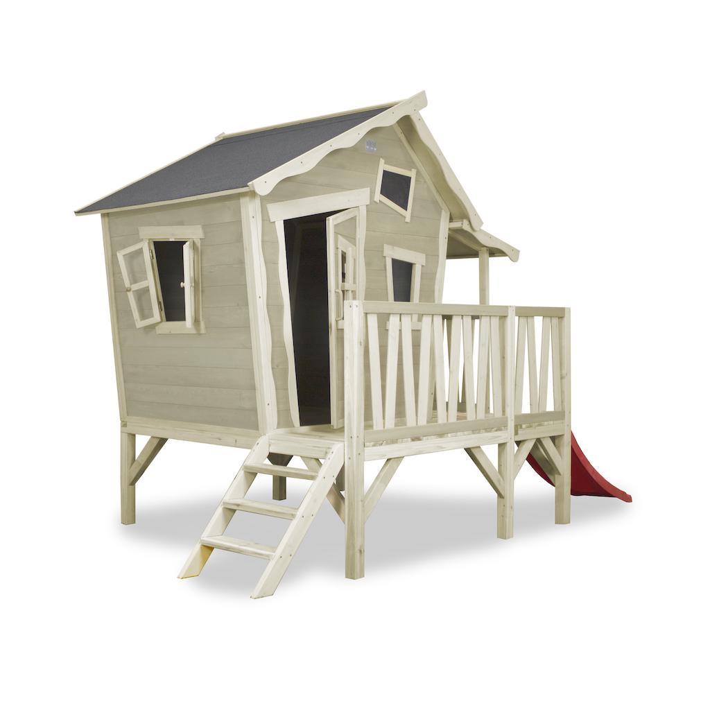 EXIT Crooky 350 houten speelhuis - grijsbeige