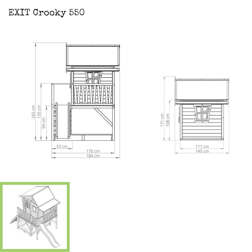 EXIT Cabane en bois Crooky 550 - beige gris