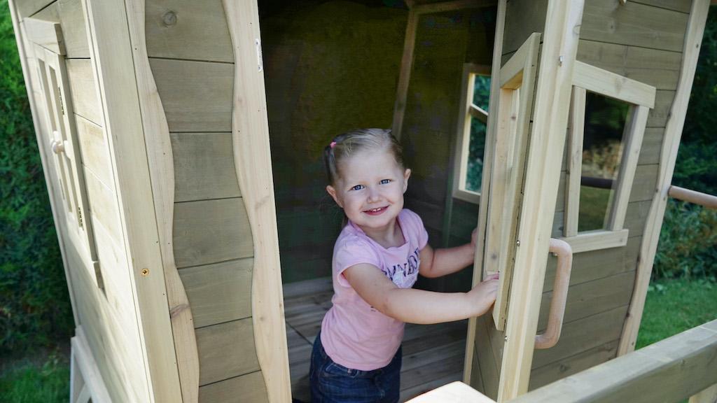 EXIT Crooky 700 houten speelhuis - grijsbeige