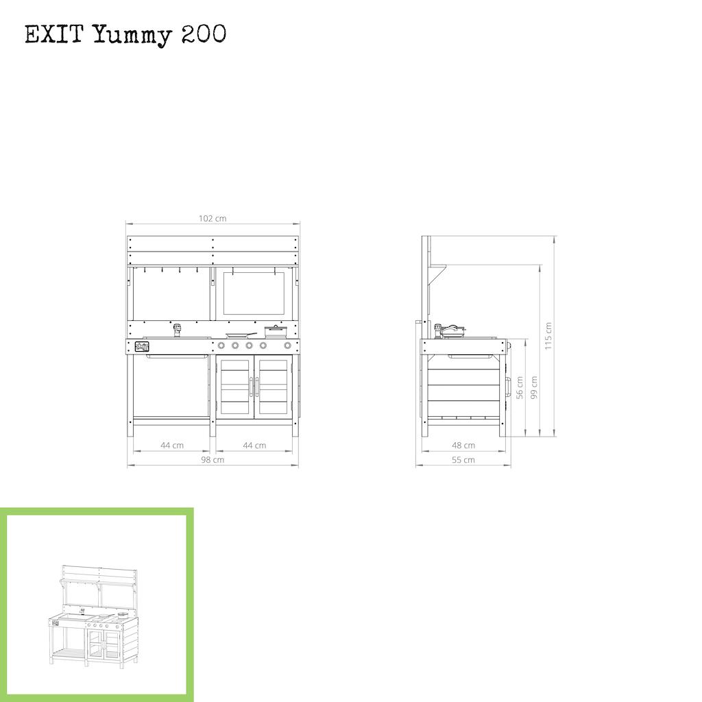 EXIT Yummy 200 houten buitenkeuken - naturel
