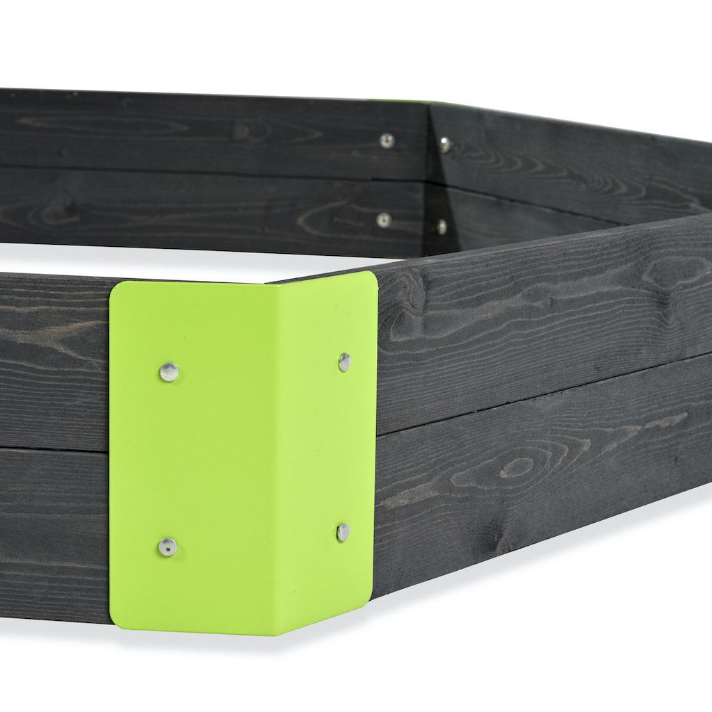 EXIT Aksent houten zeshoek 160x140cm