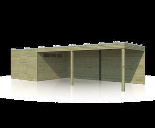 Cabane en bois  avec auvent | BS | 900 x 300 cm