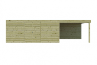 Cabane en bois avec auvent | BS | 810 x 300 cm