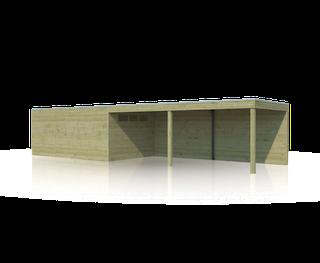 Blokhut met luifel | BS | 1020 x 300 | E-woodproducts