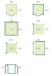Blokhut met luifel | QBS | 600 x 210 cm | E-woodproducts