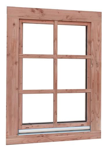 <BIG> <B> Fenêtre oscillo-battante Douglas Prestige, double vitrage, 84,4 x 120,4 cm. </B> </BIG>