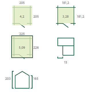 Blokhut Luzern | 205x205 cm
