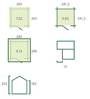 Cabane en bois Lucerne | 265x265 cm