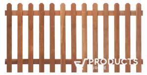 <BIG><B>Clôture de jardin droite en bois dur H90xL180cm</B></BIG>