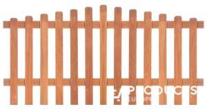 <BIG><B>Cl&ocirc;ture de jardin arrondie en bois dur H90xL180cm</B></BIG>
