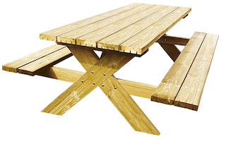 Luxus Robusto picknicktafel | 200 x 150 cm