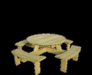 E-woodproducts Lancelot picknicktafel 225cm bruin