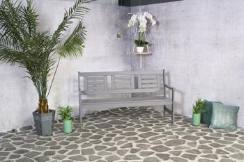 <BIG><B>Amelie 3-zits tuinbank donker grijs</B></BIG>