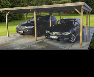 Carport dubbel met tussenpaal | 600x500 cm