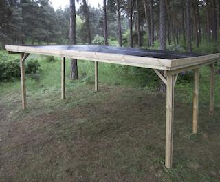 Double carport   510x500 cm