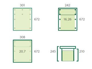 Carport enkel XL | 300x670 cm