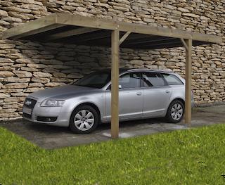 Carport construction moderne | 300x500 cm