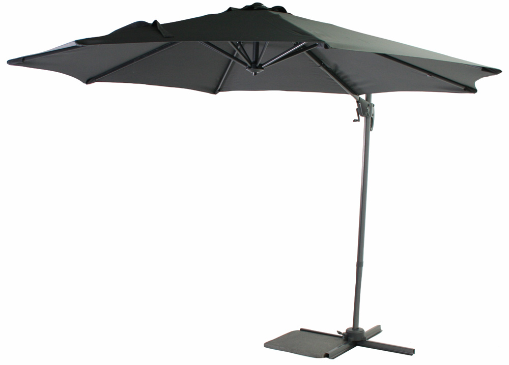 <BIG><B>Parasol Honolulu antraciet  &#216; 3m</B></BIG>