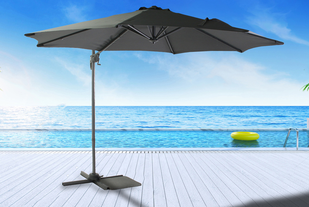 <BIG><B>Parasol Honolulu antraciet  Ø 3m</B></BIG>