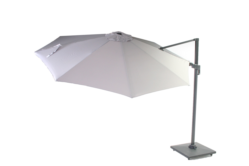 <BIG><B>Parasol Honolulu gris clair &#216;3m</B></BIG>