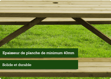 Tables de pique-nique Planches