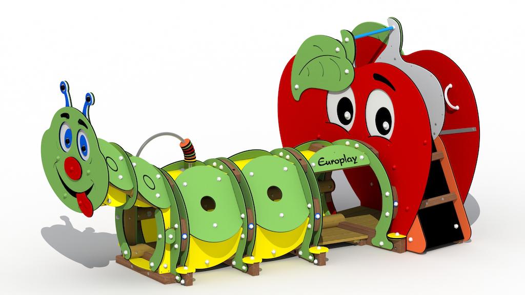Pomme + chenille avant