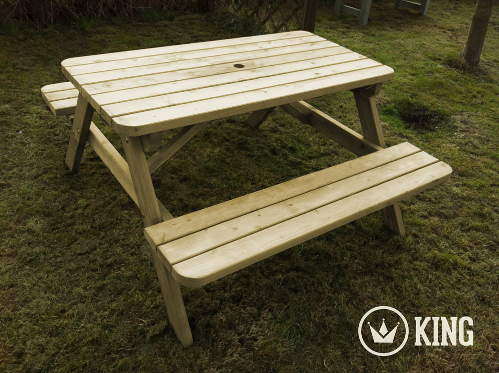 <BIG><B>KING ® Table de pique-nique 1.40m / 4cm d'épaisseur (6 TABLES)</B></BIG>