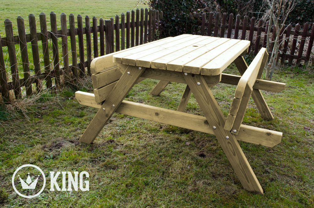 <BIG><B>KING ® PICKNICKTAFEL 140 cm / 4cm dikte</B></BIG>