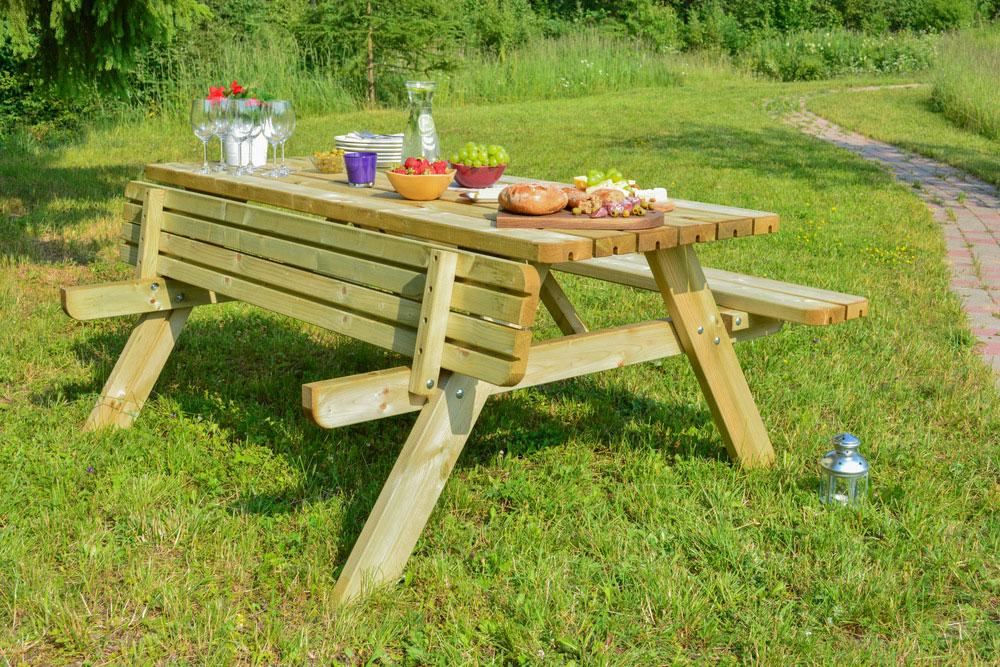 <BIG><B>KING PLUS ® Table de pique-nique 1m77 / 4.2cm d'épaisseur</B></BIG>