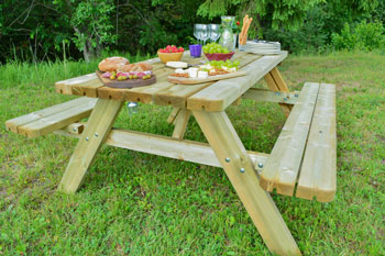 <BIG><B>KING PLUS ® PICKNICKTAFEL 177 cm / 4,2 cm dikte</B></BIG>