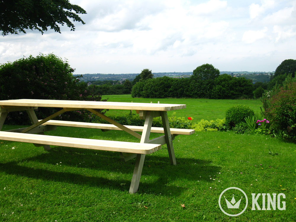 <BIG><B>KING ® PICKNICKTAFEL 240 cm / 4 cm dikte</B></BIG>