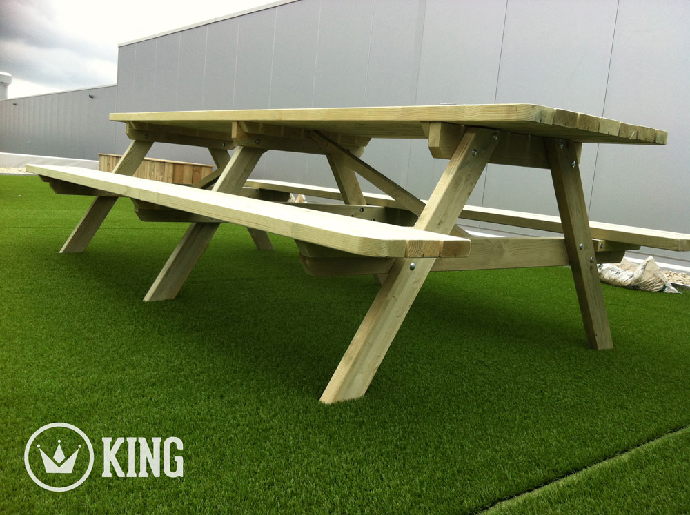 <BIG><B>ROYAL KING ® Picknicktafel 3.00m / 4.5 cm dikte (6-PACK)</B></BIG>