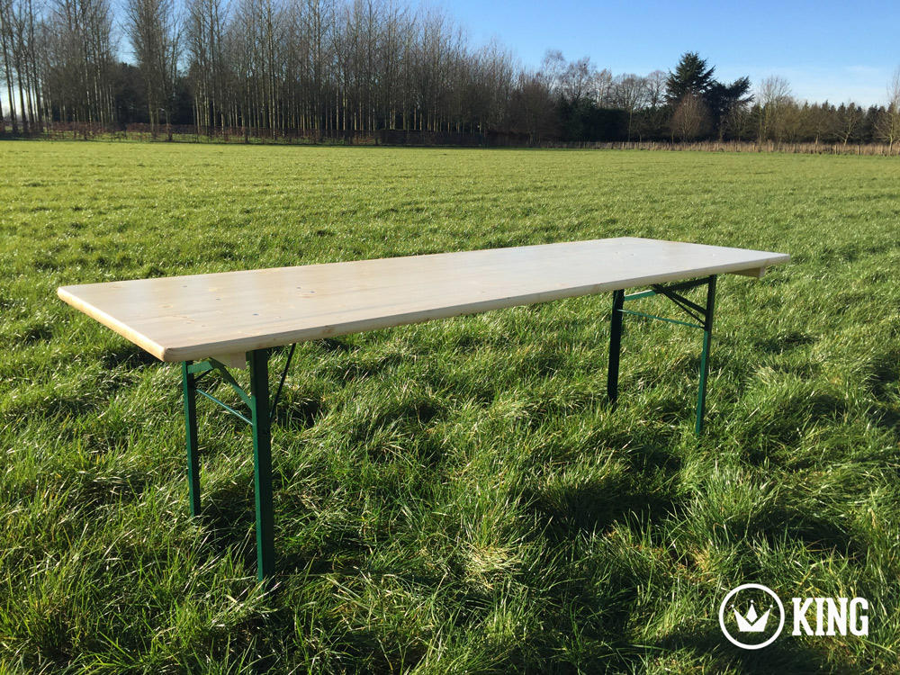 <BIG><B>KING &#174; Table pliante 220cm x 70cm </B></BIG>