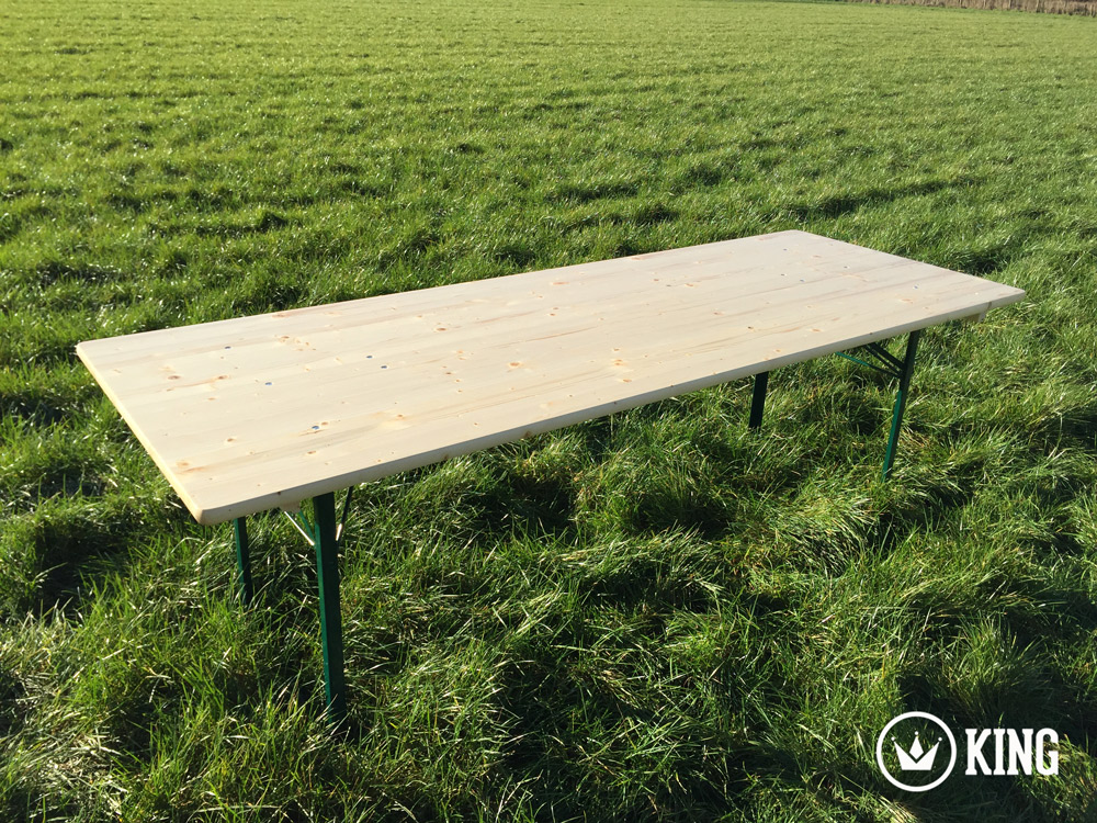 <BIG><B>KING &#174; Table pliante 220cm x 80cm </B></BIG>