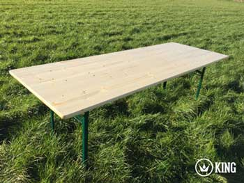 <BIG><B>KING ® Table pliante 220cm x 80cm </B></BIG>