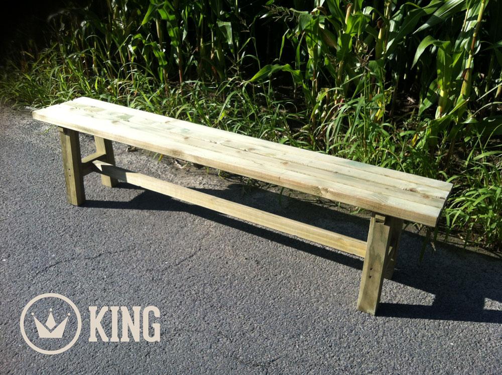 KING ® Gartenbank für Erwachsene 180cm
