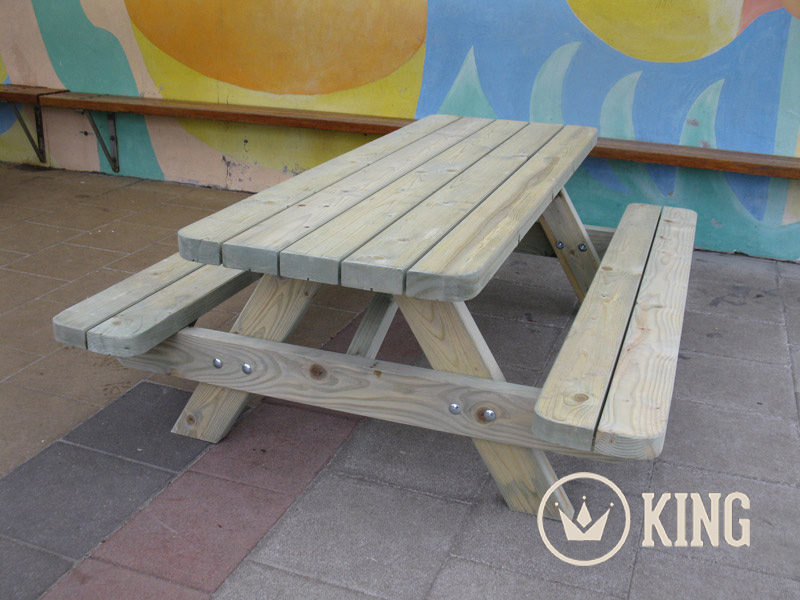 <BIG><B>KING ® KINDERPICKNICKTAFEL 140 cm (6-PACK)</B></BIG>