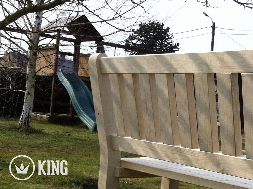 <BIG><B>KING ® Charles Tuinbank 140 cm (NATUUR)</B></BIG>
