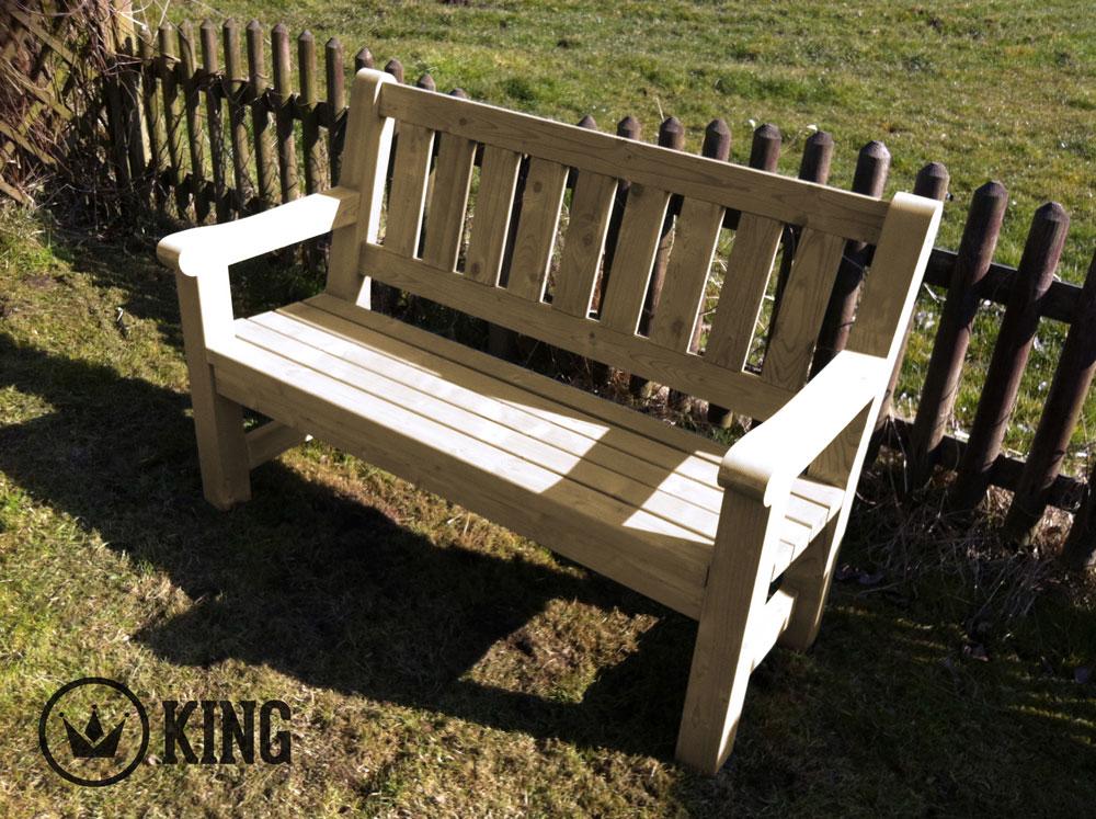 <BIG><B>KING ® Charles Tuinbank 140 cm (geïmpregneerd)</B></BIG>