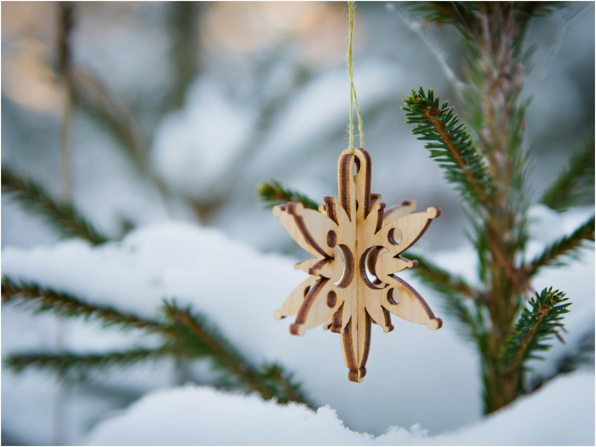 Kerst ster hanger