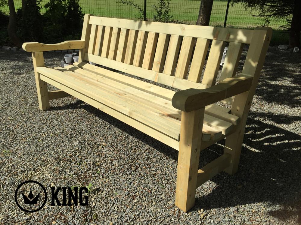<BIG><B>KING ® Banc de jardin George 2.00m Luxe (impregné)</B></BIG>