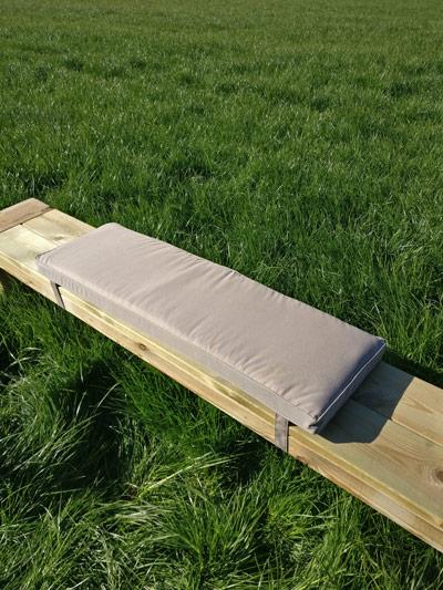 Picknicktisch Kissen taupe 96cm