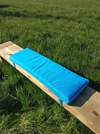 Picknicktisch Kissen mineral blau 96cm