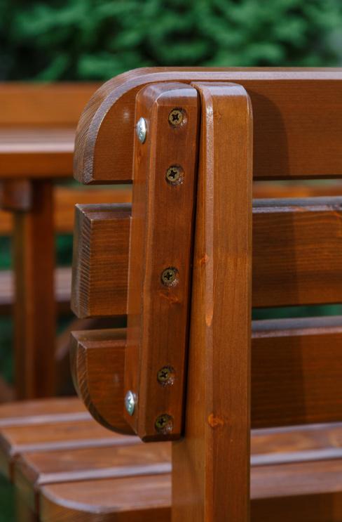 <BIG><B>Banc LUX en bois brun foncé 150 cm</B></BIG>