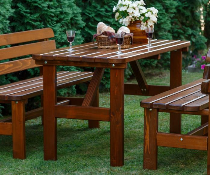 <BIG><B>LUX houten donker bruine tafel 150 cm</B></BIG>