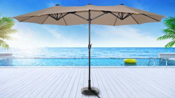 <BIG><B>Marbella Parasol Taupe</B></BIG>