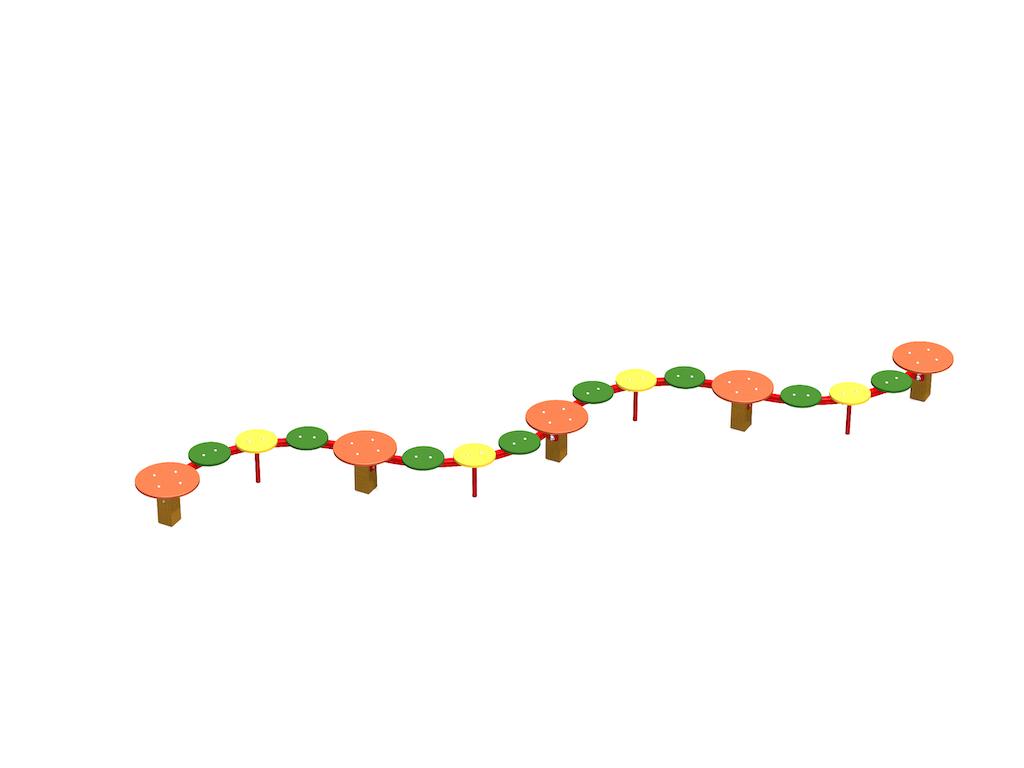 banc de conte de fées courbé (17 places)