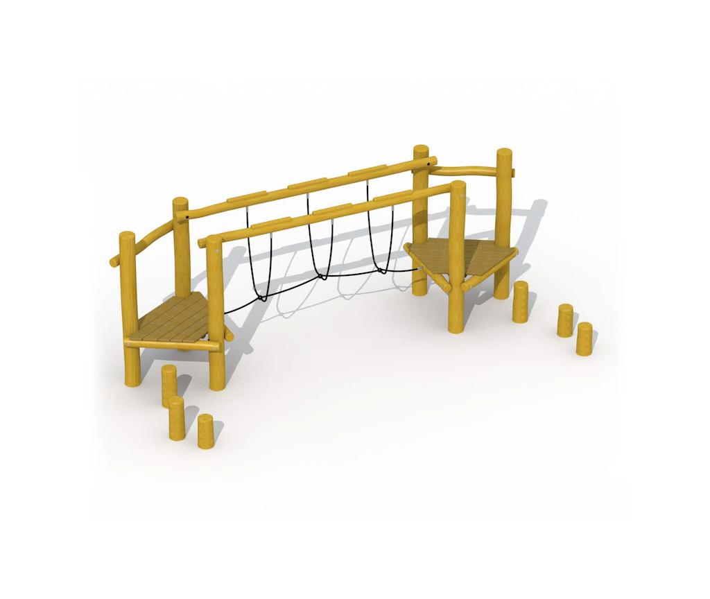Cours d'agilité (pont de corde)